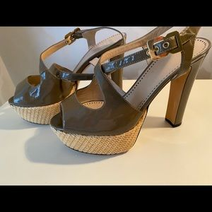 Moschino Cheap & Chic basket weave platforms